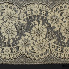 Gold French metallic lace trimming with floral design 20 cms