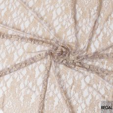 Gold and lavender two tone French lace fabric in floral design-D6521