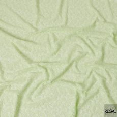 Tea green synthetic georgette fabric with same tone embroidery in floral design-D6619